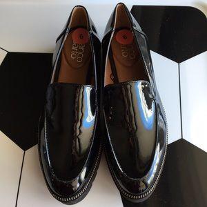 New Franco Sarto Balto Loafers Black Patent sz 6